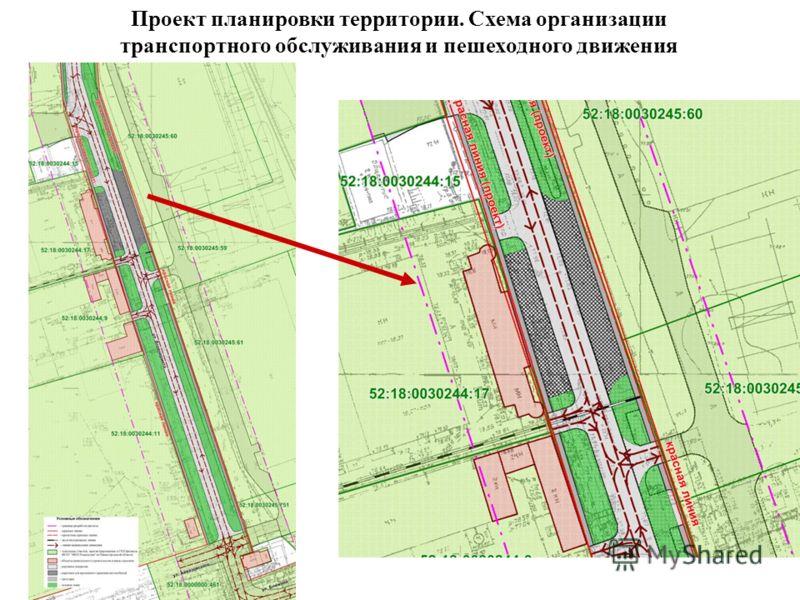 Проект планировки территории. Схема организации транспортного обслуживания и пешеходного движения