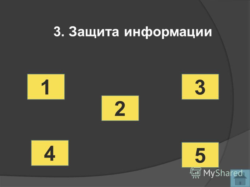1 2 3 4 5 3. Защита информации