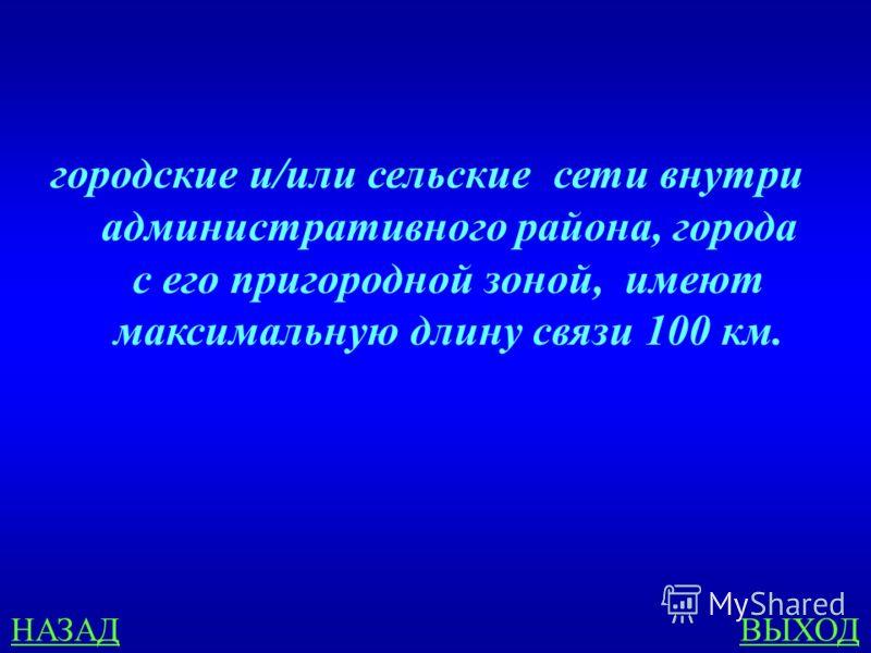 ПРИНЦИПЫ ПОСТРОЕНИЯ СЕТЕЙ 200 Местные сети - это… ОТВЕТ