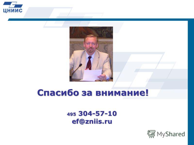 495 304-57-10 ef@zniis.ru Спасибо за внимание!