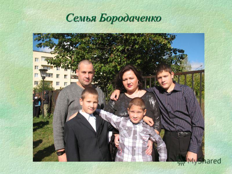 Семья Бородаченко