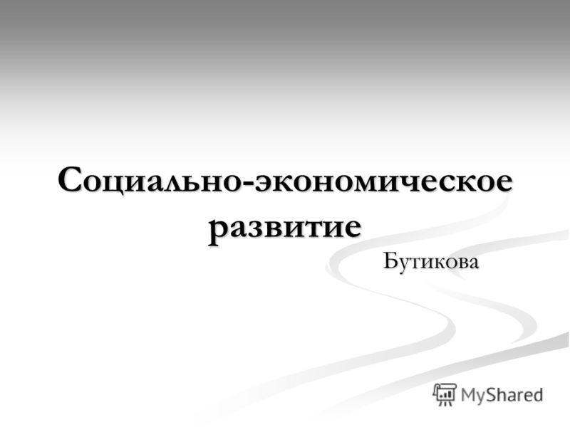 Социально-экономическое развитие Бутикова