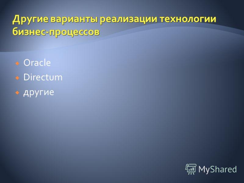 Oracle Directum другие