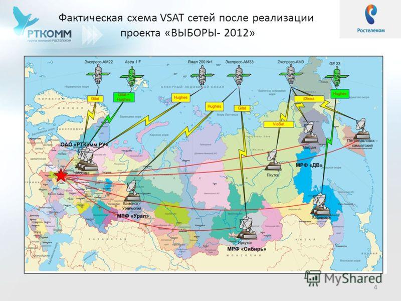 44 Фактическая схема VSAT сетей после реализации проекта «ВЫБОРЫ- 2012» 4