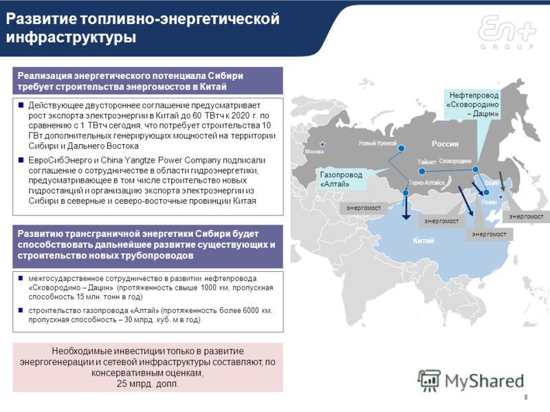 Транзитный потенциал Сибири и Дальнего Востока Возможный транзитный коридор из Европы в Азию и обратно через Россию позволит привлечет определенный объем срочных контейнерных грузов, который в настоящее время транспортируется морем, что приведет к сн
