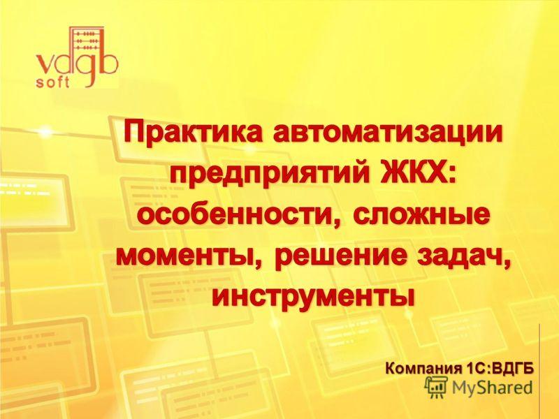 Компания 1С:ВДГБ