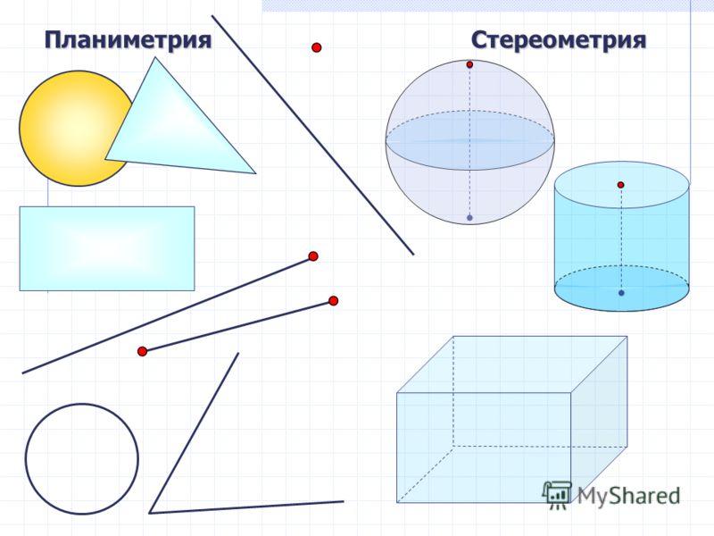 ПланиметрияСтереометрия