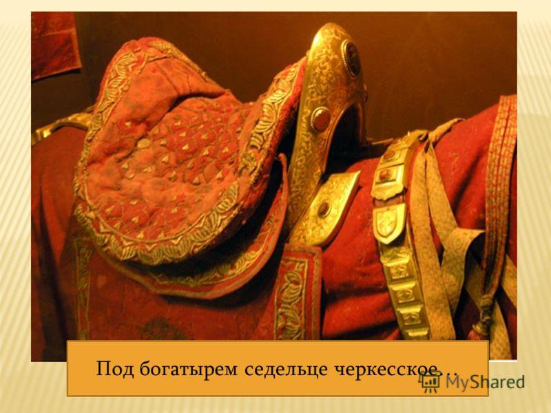 Под богатырем седельце черкесское…