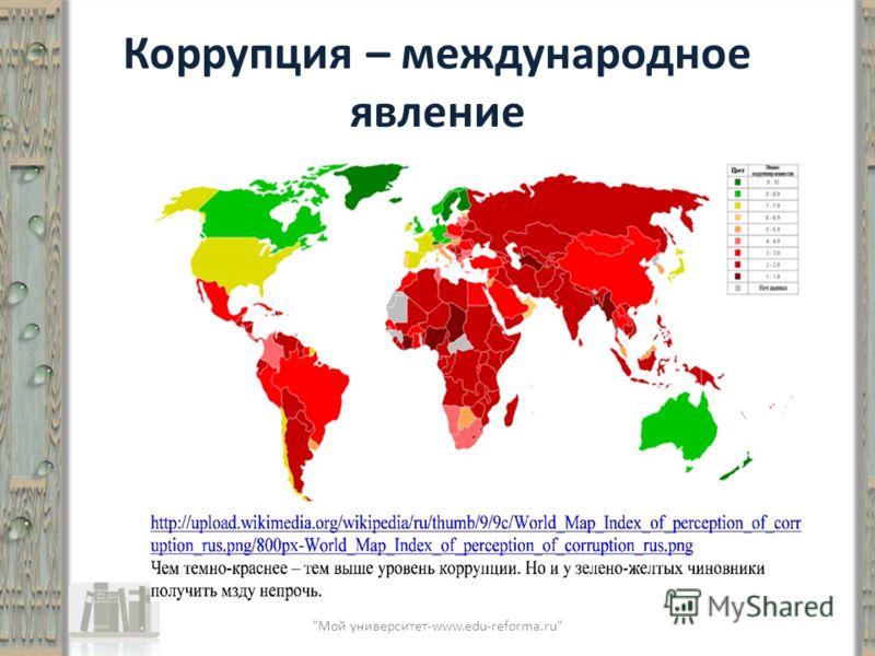 Коррупция – международное явление Мой университет-www.edu-reforma.ru
