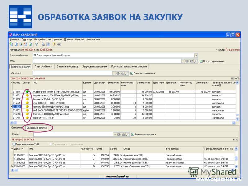 Управление снабжением9 ОБРАБОТКА ЗАЯВОК НА ЗАКУПКУ www.capitalcse.ru