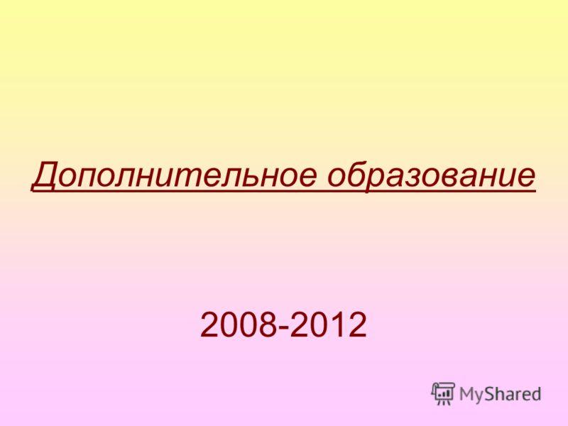 Дополнительное образование 2008-2012
