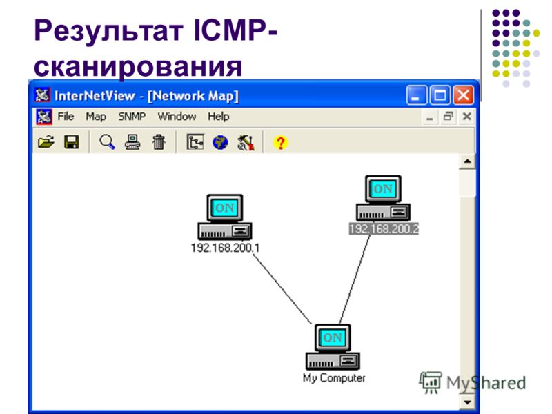 Результат ICMP- сканирования