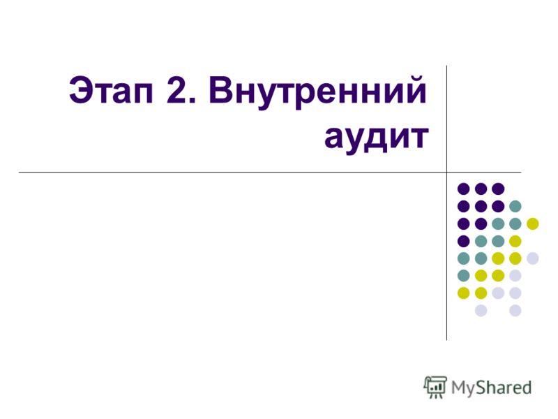 Этап 2. Внутренний аудит