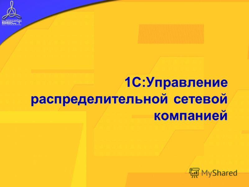 1С:Управление распределительной сетевой компанией