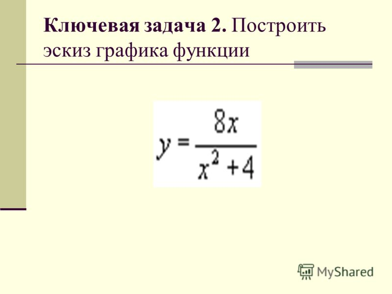 Ключевая задача 2. Построить эскиз графика функции