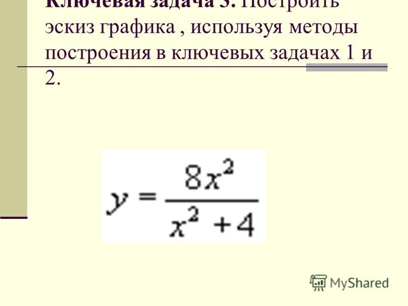 Ключевая задача 3. Построить эскиз графика, используя методы построения в ключевых задачах 1 и 2.