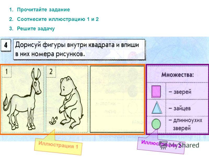 1.Прочитайте задание 2.Соотнесите иллюстрацию 1 и 2 3.Решите задачу Иллюстрация 1 Иллюстрация 2