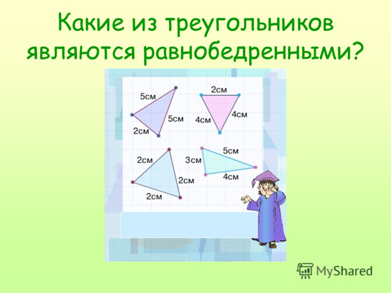 Какие из треугольников являются равнобедренными?