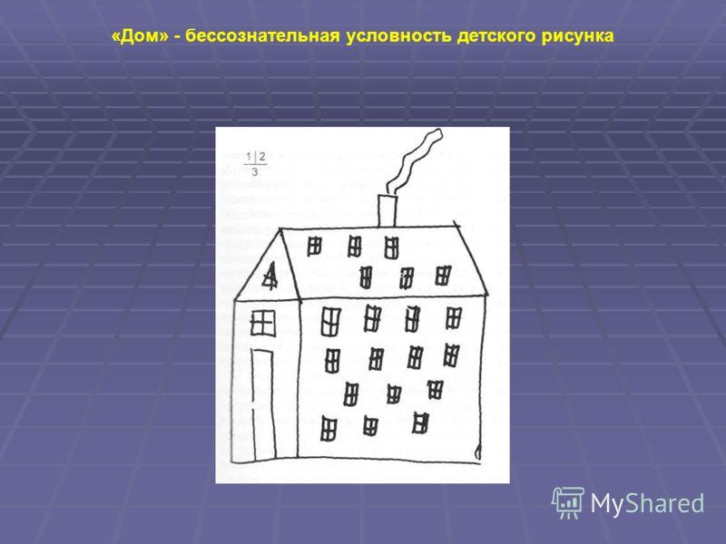 «Дом» - бессознательная условность детского рисунка