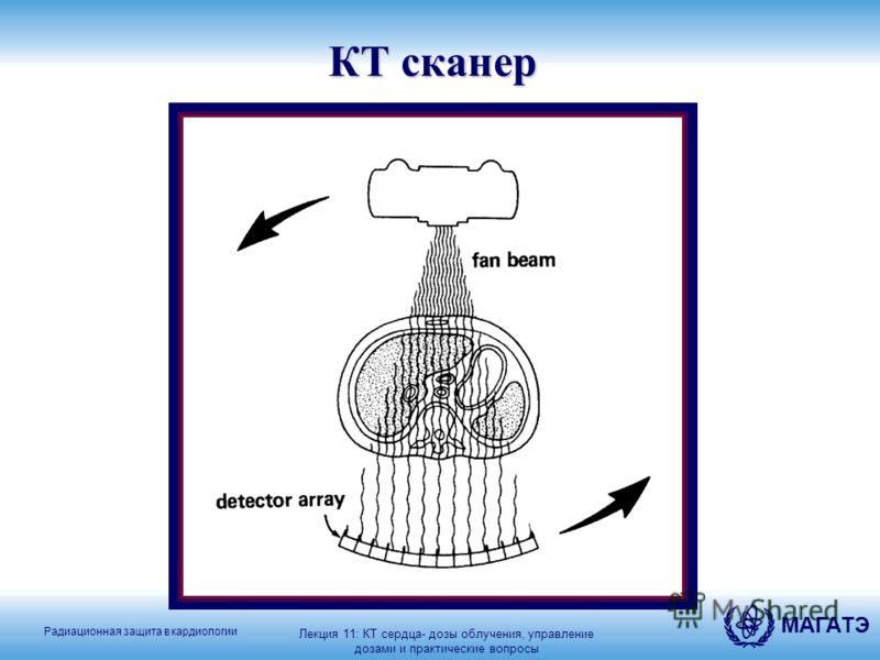 Радиационная защита в кардиологии МАГАТЭ КТ сканер Лекция 11: КТ сердца- дозы облучения, управление дозами и практические вопросы