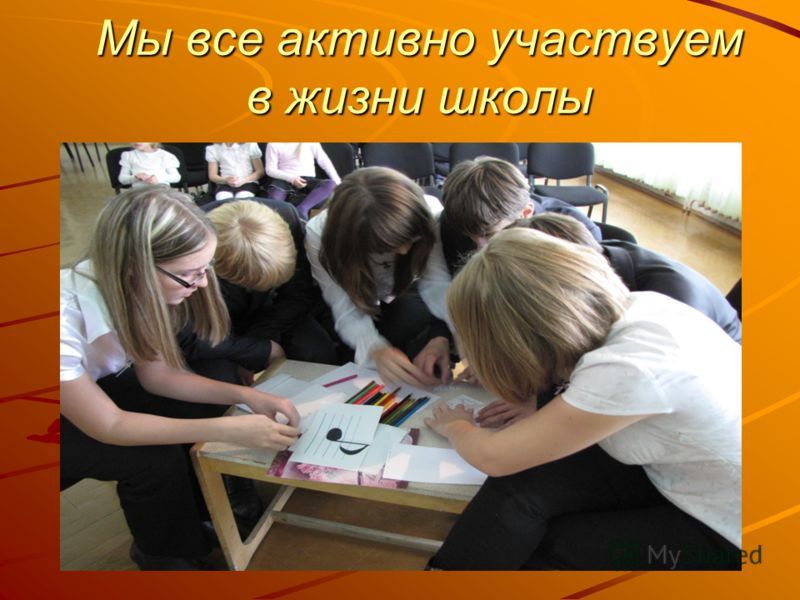 Мы все активно участвуем в жизни школы