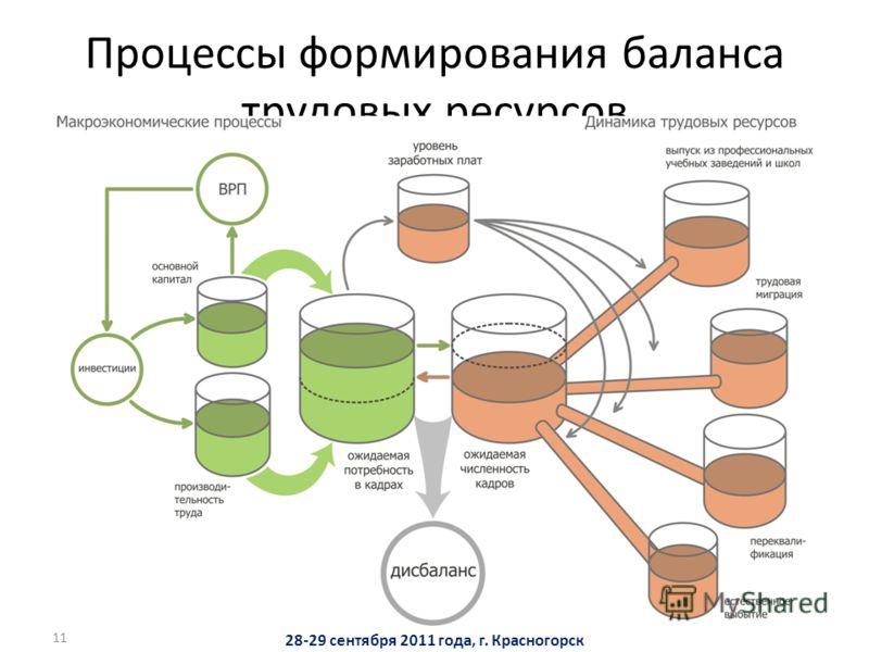11 Процессы формирования баланса трудовых ресурсов 28-29 сентября 2011 года, г. Красногорск