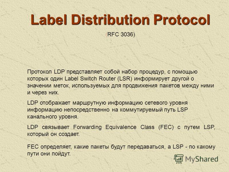 Тема 3. MPLS для ускорения маршрутизации – MPLS IGP Тема 3. MPLS для ускорения маршрутизации – MPLS IGP Определение FEC Распространение меток с помощью протокола LPD Особенности работы MPLS поверх ATM и FR Конфигурирование MPLS IGP в маршрутизаторах