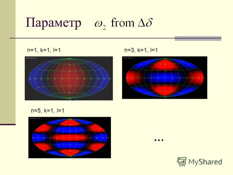 Параметр n=1, k=1, l=1n=3, k=1, l=1 n=5, k=1, l=1 …