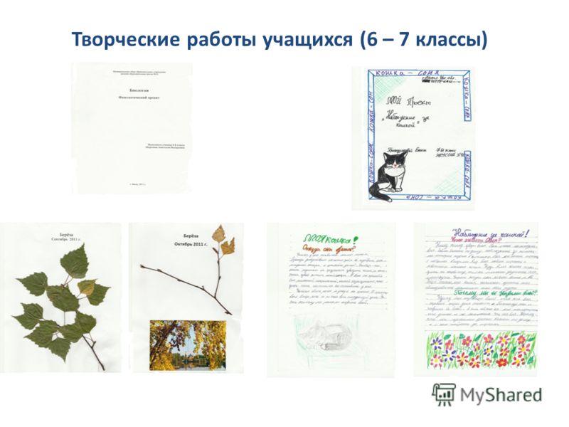 Творческие работы учащихся (6 – 7 классы)