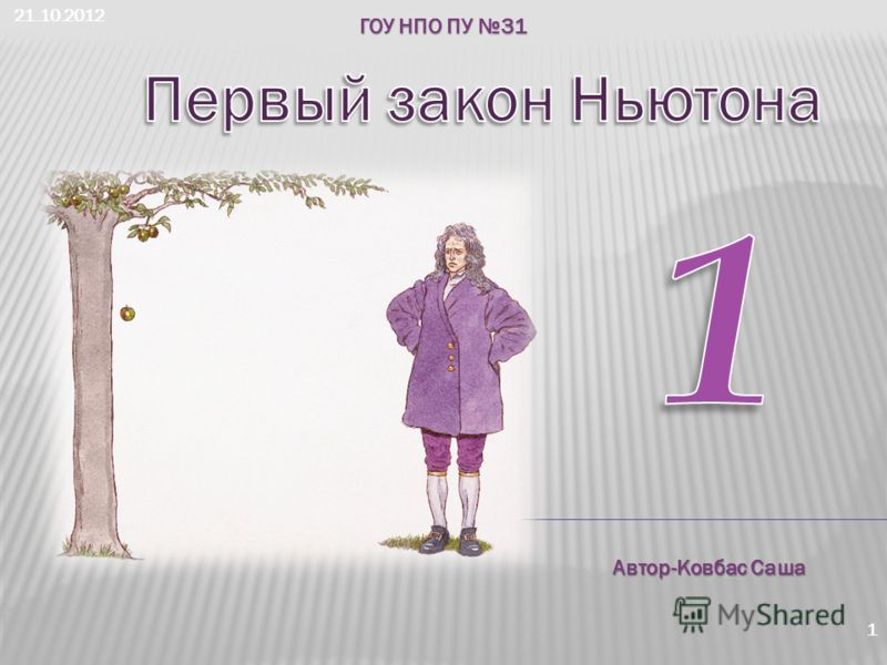 21.10.2012 1 ГОУ НПО ПУ 31 Автор-Ковбас Саша