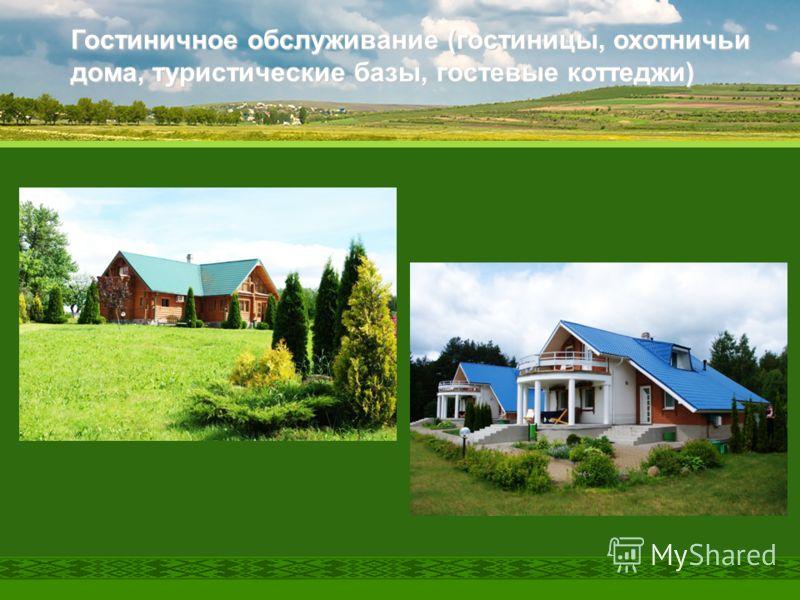 Гостиничное обслуживание (гостиницы, охотничьи дома, туристические базы, гостевые коттеджи)