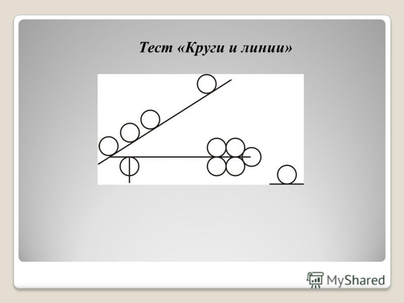 Тест «Круги и линии»