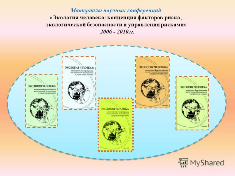 Материалы научных конференций «Экология человека: концепция факторов риска, экологической безопасности и управления рисками» 2006 - 2010гг.