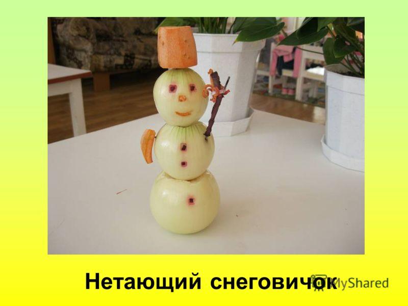 Нетающий снеговичок