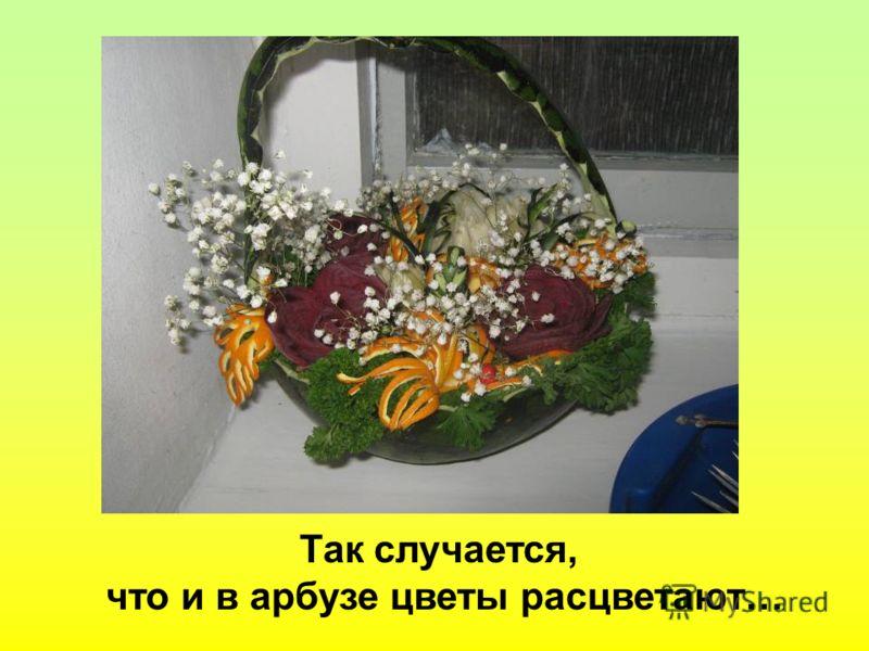 Так случается, что и в арбузе цветы расцветают…