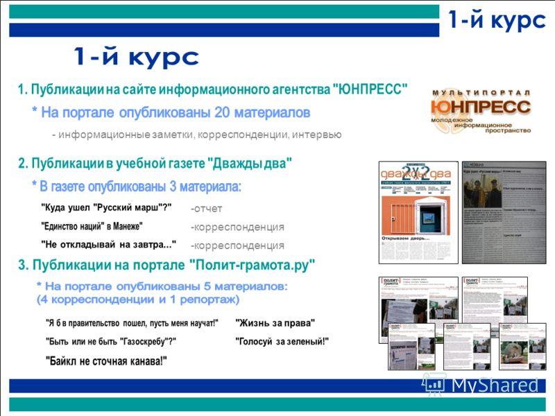 - информационные заметки, корреспонденции, интервью -отчет -корреспонденция