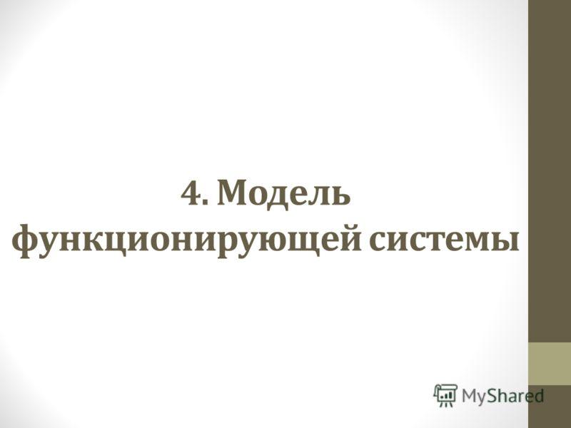4. Модель функционирующей системы