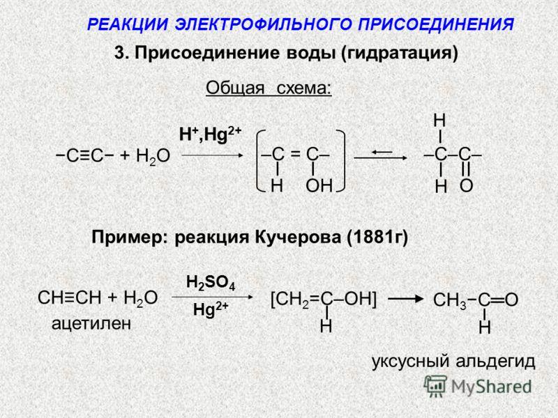 Пример: реакция Кучерова