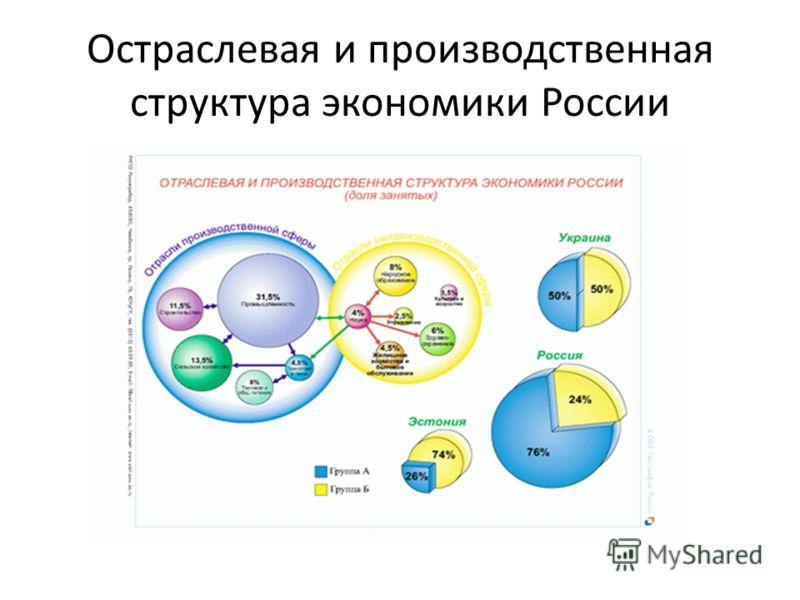 Остраслевая и производственная структура экономики России