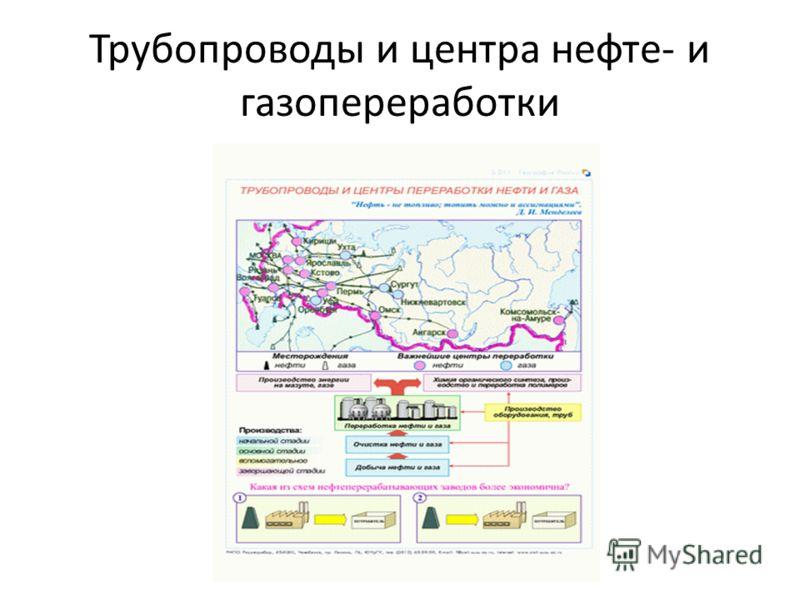 Трубопроводы и центра нефте- и газопереработки