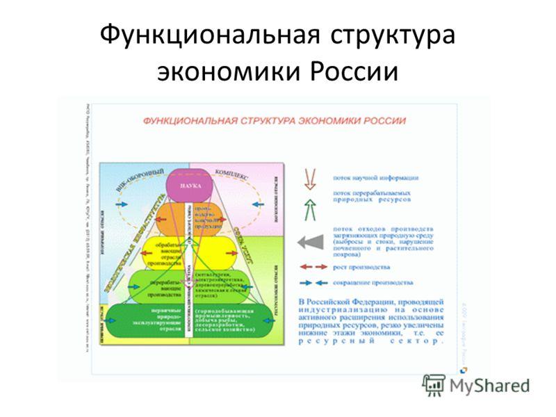 Функциональная структура экономики России