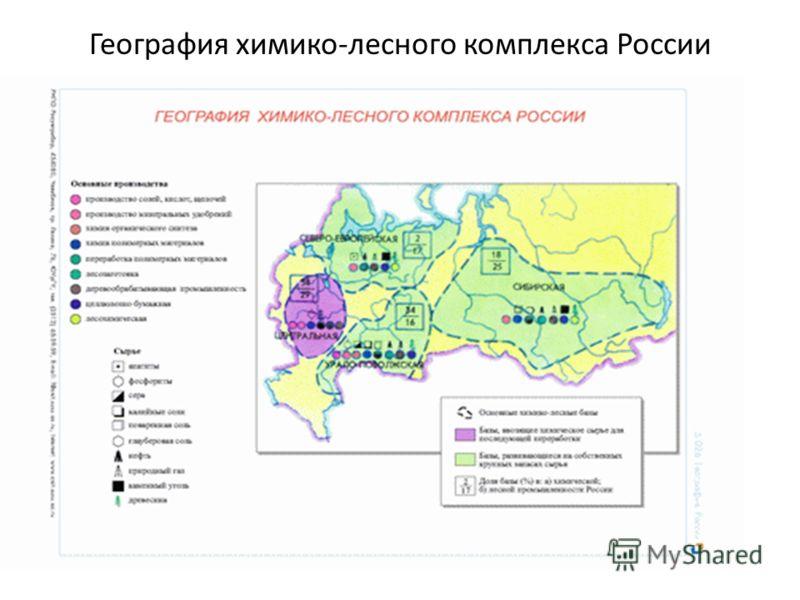 География химико-лесного комплекса России