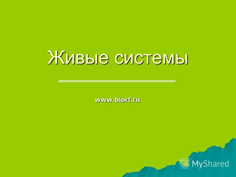Живые системы www.biorf.ru