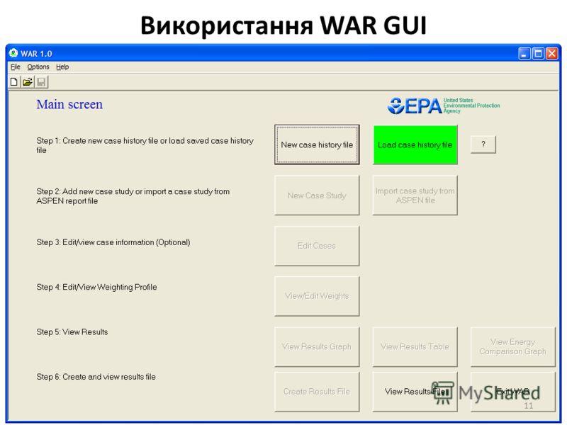 Використання WAR GUI 11