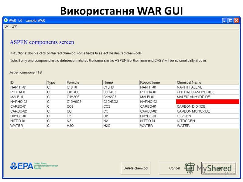 Використання WAR GUI 12