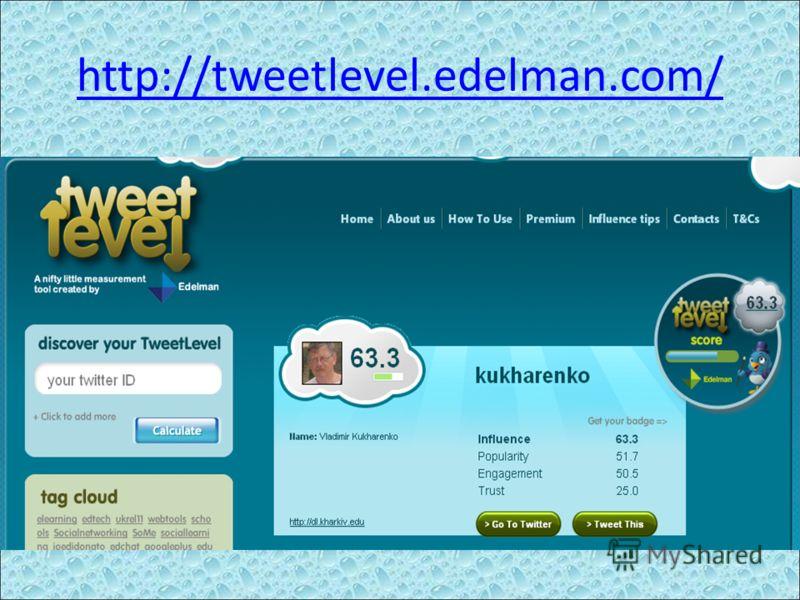 http://tweetlevel.edelman.com/