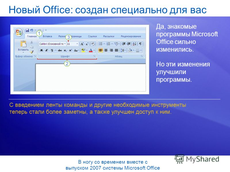 Да, знакомые программы Microsoft Office сильно изменились. Но эти изменения улучшили программы. С введением ленты команды и другие необходимые инструменты теперь стали более заметны, а также улучшен доступ к ним. В ногу со временем вместе с выпуском