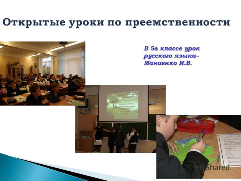 В 5в классе урок русского языка– Манаенко И.В.