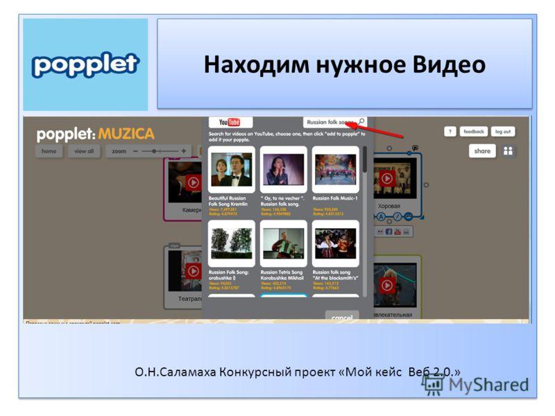 Находим нужное Видео О.Н.Саламаха Конкурсный проект «Мой кейс Веб 2.0.»