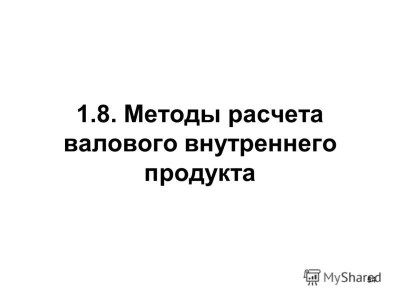 54 1.8. Методы расчета валового внутреннего продукта